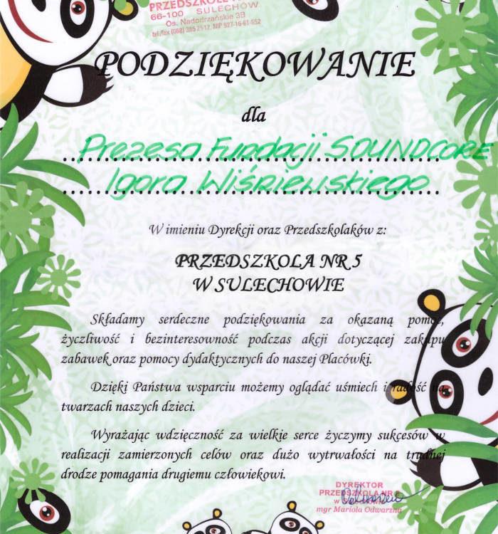 Igor Wiśniewski - prezes Fundacji Soundcore Zielona Góra